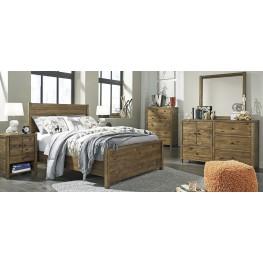 Fennison Light Brown Youth Panel Bedroom Set