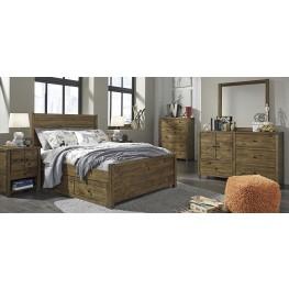 Fennison Light Brown Youth Panel Storage Bedroom Set