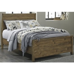 Fennison Light Brown Twin Panel Bed