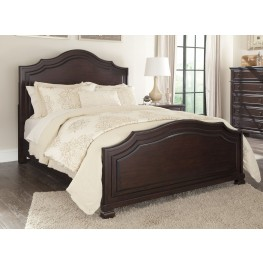 Brulind Brown Queen Panel Bed