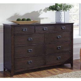 Strenton Brown 9 Drawer Dresser