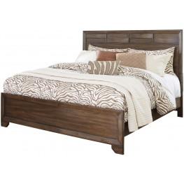 Mydarosa Brown Queen Panel Bed