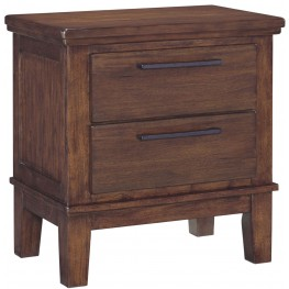 Ralene Medium Brown 2 Drawer Night Stand