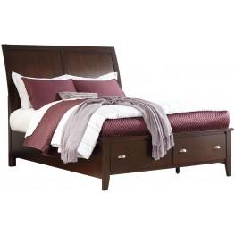 Evanburg Brown Queen Sleigh Storage Bed