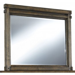 Leystone Dark Brown Bedroom Mirror