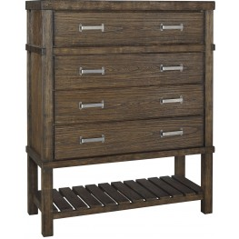 Leystone Dark Brown 4 Drawer Chest
