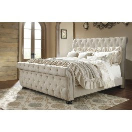 Willenburg Linen King Upholstered Sleigh Bed