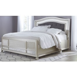 Coralayne Silver Queen Panel Bed