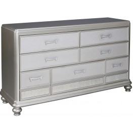 Coralayne Silver 7 Drawer Dresser