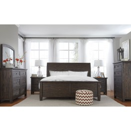 Trudell Dark Brown Bedroom Set