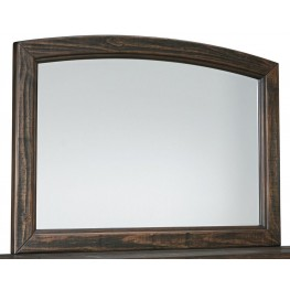 Trudell Dark Brown Bedroom Mirror
