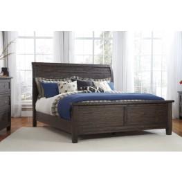 Trudell Dark Brown Queen Panel Bed