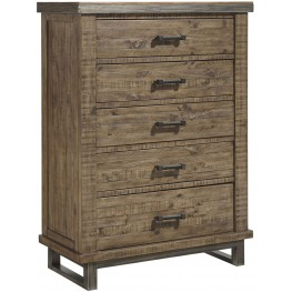 Dondie Warm Brown 5 Drawer Chest