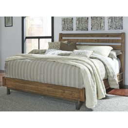 Dondie Warm Brown Queen Platform Bed