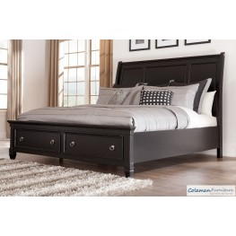 Greensburg Cal. King Storage Sleigh Bed