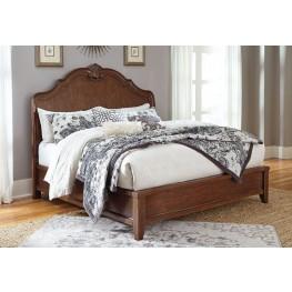 Balinder Medium Brown Cal. King Sleigh Bed