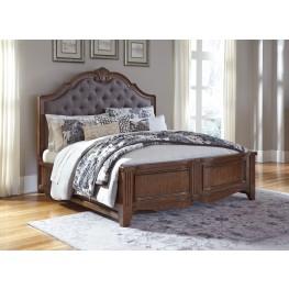 Balinder Medium Brown Cal. King Panel Bed