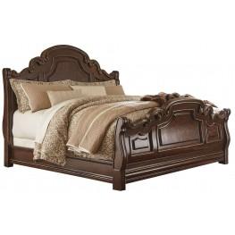 Florentown Dark Brown Queen Sleigh Bed