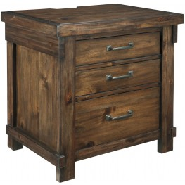 Lakeleigh Brown 3 Drawer Night Stand