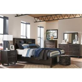 Parlone Dark Brown Storage Platform Bedroom Set