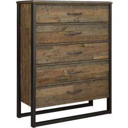 Sommerford Brown 5 Drawer Chest