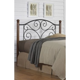 Doral Matte Black Full Headboard