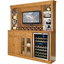 Manchester Burnished Oak Back Bar with Hutch