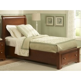 The Cottage Collection Cherry Twin Sleigh Storage Bed