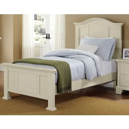 Shutters White Twin Panel Bed