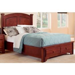 Hamilton/Franklin Cherry Full Panel Storage Bed