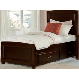 Transitions Merlot Full One Side Storage Panel Bed