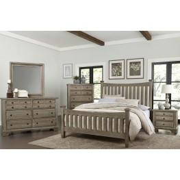 Bedford Washed Oak Poster Bedroom Set