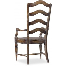 Willow Bend Brown Ladderback Arm Chair Set of 2