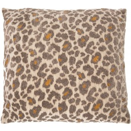 "Wild Life Pewter 22"" Square Pillow"