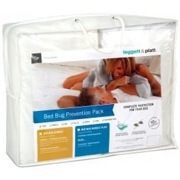 Bed Bug Prevention Pack Bundle - 2 Pc Queen Size Mattress Protector