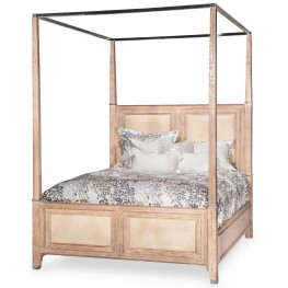 Biscayne West Sand Queen Canopy Bed