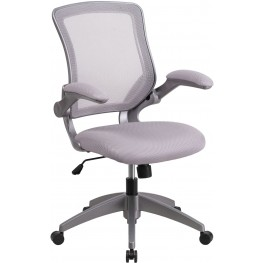 Mid-Back Gray Swivel Task Chair (Min Order Qty Required)