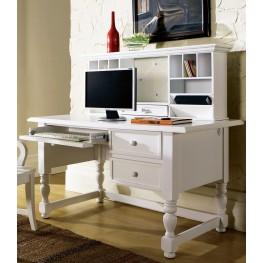 Bella White Desk with Hutch