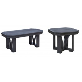 "St Tropez Black 42"" Occasional Table Set"