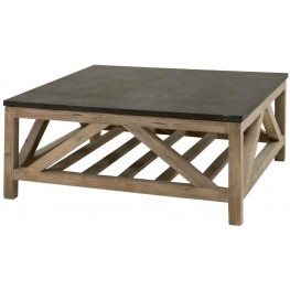 Bella Antique Blue Stone Square Coffee Table