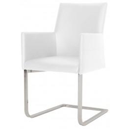 Regis Bo White Chrome Dining Chair
