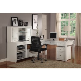 Boca L-Shape Credenza Home Office Set