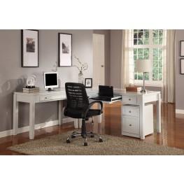 Boca L-Shape Credenza Home Office Set