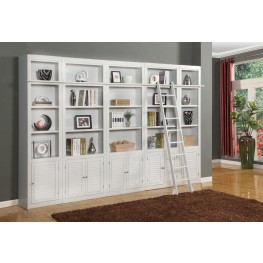 Boca 5 Piece Library Wall Unit