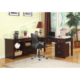 Boston L-Shape Credenza Home Office Set