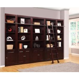 Boston 5 Piece Library Wall Unit