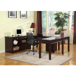 Boston U-Shape Credenza Home Office Set