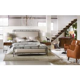 Studio 7H Beige Slumbr Metal Upholstered Panel Bedroom Set