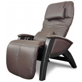 Svago Brown Leather Lusso Chair With Black Wood Legs