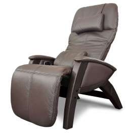 Svago Brown Leather Lusso Chair With Walnut Wood Legs